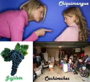 Chiquimangue, gajilete, cachivaches